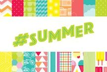 #Summer Collection / Lovely scrapbooking, craft, and card ideas created using our #Summer Collection, released Winter 2014 by American Crafts Inc.