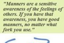 On Manners...