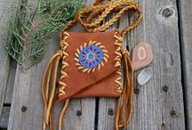 Leather medicine bags / This is our medicine and amulet bag board.