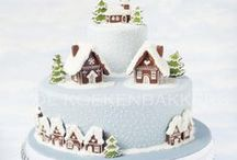 Christmas Cakes Inspiration and Ideas / The Magic of the Christmas Cake! Ideas for home decoration and masterpieces to marvel at. Yes, some are colourful and not as natural as our standard recipes, but base around a cracking organic cake and enjoy the magic (who eats all that icing anyway?!?)