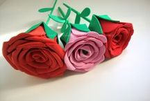 Flores de Goma eva / Rosas,Margaritas y otras flores y arbolitos hechos en goma eva