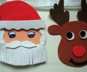 Guirnalda Navideña en Goma eva / Guirnalda de Navidad hecha con Goma eva y mucha purpurina
