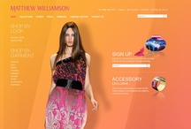 Matthew Williamson  / Renowned British fashion designer Matthew Williamson selected Pod1 to introduce the brand to ecommerce.  Through bold imagery and an interactive lookbook, the site conveys the same luxury and attention to design you receive in store.