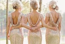 Bridal Parties / Don't forget the bridesmaids.  Different themes and colours to inspire.