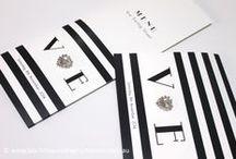 Black & White Stripes / Timeless black and white stripe inspiration. http://blacktieweddinginvitations.com.au/galleries/modern-wedding-invitations/licorice-stripe
