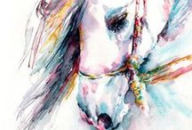 Equine Art / Capturing the beauty and wild spirit of horses.