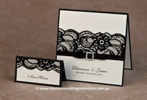 Lace Noir / Gorgeous black lace inspiration to match our SHIMMER wedding stationery - http://blacktieweddinginvitations.com.au/galleries/romantic-wedding-invitations/shimmer