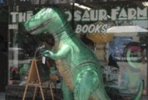 Inflatable Giants! / Large inflatable dinosaurs. Great for parties and other events, or simply for some awesome room decor!  http://www.dinosaurfarm.com/inflatables.html