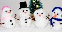 Christmas Crafts & Recipes / Christmas crafts, Christmas DIY, Christmas recipes, ornaments