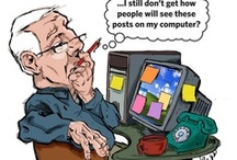 Illustration - Baby Boomers in the Digital Age / A humorous look at how baby boomers try to adjust to the age of social media. Published by The Arizona Republic