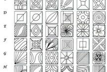 Zentangles - Huismama / Learning how to draw beautiful patterns