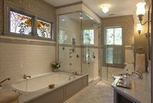 Bathrooms / From minute powder rooms to lavish ensuite bathrooms.   / by PamDesigns 3D