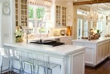 Kitchens ~ White Cabinets / Who knew white came in so many different colors?!  Judging by the predominance of pins of kitchens with white painted cabinetry by far over any other finish --this is the obvious public favorite.   / by PamDesigns 3D