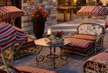 Outdoor ~ Rooms / Outdoor rooms can vary in style and use just like their interior counterparts.  They can also be just as intimate, quaint and cozy or grand and formal.  Sometimes the only characteristic that identifies them as outdoor is the lack of central heat and air.