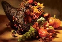 Decor ~ Autumn / Tablescapes, Arrangements, Still Lifes, Vintage Illustrations & Vignettes