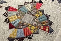 Quilts ~ Details, Patches & Samplers / A keen eye, steady hand, practice and tenacity combined with artistic talent are revealed in details of the quilter's craft.  Born of necessity and evolved to a high art ~ quilting bees are the original social network! =)