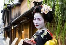 Japan ~ Geisha / Geisha are traditional Japanese female entertainers who act as hostesses and whose skills include performing various Japanese arts such as classical music, dance and games. (aka Geiko)