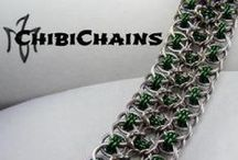 ChibiChains / Where I get to show off some of my daughters awesome chain mail jewelry creations! (So cool!) www.chibichains.com