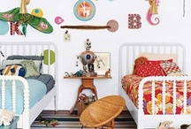 Boys Rooms / A mom whose tired of bunk beds thinking of how to fit six growing boys into three rooms and still give them each their own space...