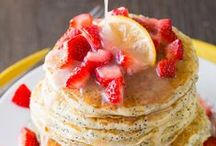 Breakfast / Food, both decadent and healthy, to serve at breakfast time.