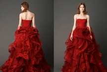 Red Wedding Dress / If I could have had a second dress at our wedding...red would be my colour < 3
