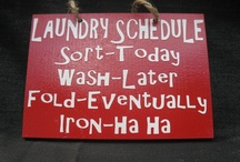 Home, Laundry Room / Cleaning and Organizing the Laundry Room, plus helpful tips.  / by Ruth Callen Kovacs