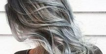new hair colour / grey salt and pepper hair, mallen streaks and going grey at 30