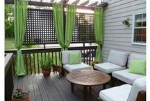 Deck and Yard / Deck ideas and back yard planting / by Sam O'Donoghue of So Sam