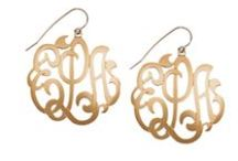 Mad About Monograms / Monogram necklaces, earrings, bracelets, keychains & more! / by Flag Lady Gifts