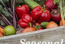 Seasonal Eating / Seasonal recipes and produce guides