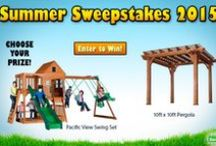 Backyard Discovery Sweepstakes / Here at Backyard Discovery we like to give back to our community by giving away playsets.  / by Backyard Discovery