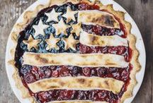 Red, White & Blue / Memorial Day and 4th of July food, drinks and entertaining ideas