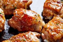 MEAT & FISH RECIPES / beef, chicken, meat, pork, bacon, seafood