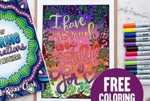 Free Coloring Pages | Sarah Renae Clark / I know how much you love free coloring pages...  That's why I have created this huge selection of free printable adult coloring pages - just for you!  Download them to your computer and print anytime to feed your coloring book addiction without wasting precious space on your bookshelf.