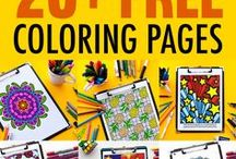 Blog | Sarah Renae Clark (Adult Coloring + Printables) / Come and visit my blog at www.sarahrenaeclark.com to find valuable coloring tips and techniques for drawing or coloring, information about my adult coloring books, free coloring pages and printables, video tutorials, color palettes, organizational tips and so much more!