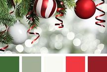 Christmas Color Schemes / Christmas color scheme inspiration and color palette combinations for your Christmas coloring projects!