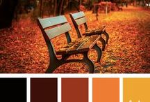 Autumn | Color Palettes / Fall color scheme inspiration and color palette combinations for your Autumn coloring or art projects!