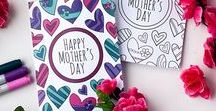 Mother's Day coloring, crafts and printables / This range of Mother's Day printables, crafts and coloring pages will give you plenty of Mother's Day gift ideas for a special mom in your life.   Mother's Day coloring pages, Mother's Day gift ideas, Mother's Day printables, free Mother's Day printables, Mother's Day craft ideas