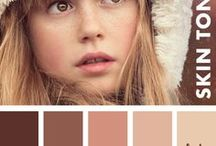 Skin Tone Color Palettes / Learn how to color skin tones in your adult coloring pages or art projects with this collection of useful skin tone color palettes and color reference charts. Use the colors in these palettes as a reference for your skin tones, shadows and highlights when drawing or coloring.