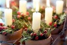 Winter (and Christmas!) mood / Christmas and holiday decor ideas.