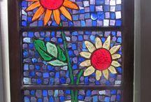 ...mosaics and leaded glass / Glass, windows / by Maureen Monaghan