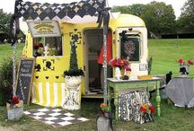 Business ❤ Mobile Retail Store / Also see ideas on my Display boards  Mobile retail (mobile boutique) store and pop-up stores to sell crafts, antiques, vintage items, jewelry, etc. while traveling, at flea and antique markets, local events, etc.  Street boutique.  Curb side service.