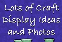 Displays ❤ / Display ideas to use at craft shows, craft stalls, antique booths, etc.
