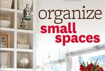 Homes / Small Spaces ❤ Decorating + Organizing / Living in a small space.  Small Homes / Apartments / Dorms / Mobile / RVs / Small / Studios / Tiny / Attics