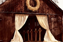 Rustic & Chic Barn Burlap and lace wedding