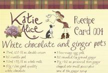 Katie Alice Recipe Cards / Bake like Katie Alice with these delicious recipe cards! Thank us later!