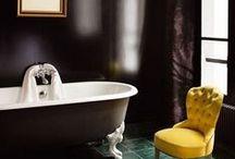 Marple House / downstairs bathroom / by Jules Barton-Breck