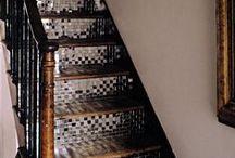 Marple House / hallway, stairs, landing / by Jules Barton-Breck