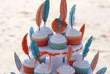 """Mon anniversaire """"Cowboys et indiens"""" / Plutôt cowboy ou indien ? Recréez l'ambiance unique du grand Ouest américain pour un fête d'anniversaire inoubliable : recettes, décoration façon tipis ou ballot de paille, jeux, déguisements..."""