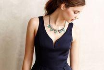 大人っぽくお上品なネイビーのドレス / お上品なネイビーのドレスをお届けします。 Navy dresses' pin!
